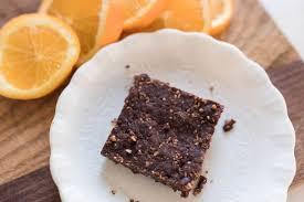 chocolate orange fruit and nut bars