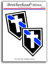 Amazon Com Brotherhood 4 Decals Thin Blue Line Chaplains Cross For Law Enforcement Decals And 4 Thin Blue Line American Flag Decals Police Sheriff Vinyl Stickers Automotive