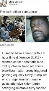 chika joestar friends in different timezones hell pm i