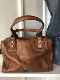 fossil maddox chestnut brown leather
