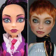 makeup from dolls to repaint
