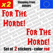 Set Of 2 Horde World Of Warcraft Logo Vinyl Decal Sticker Aufkleber Die Cut Home Garden Decals Stickers Vinyl Art