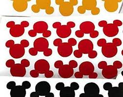 Mickey Head Decal Etsy