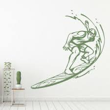 Surfboard Waves Surf Wall Decal Sticker Ws 17901 Ebay