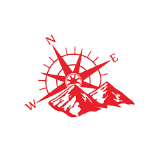 Wholesale Car Hood Sticker Compass Mountains Sticker Large Decal Camper Van Motorhome Wall Art Vinyl Red From China