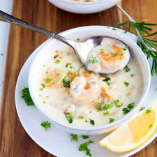 Creamy Seafood Chowder - Gather for Bread