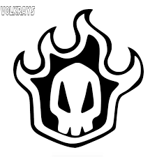 Volkrays Cool Manga Logo Bleach Rukia Kuchiki Skull Car Sticker Waterproof Creative Custom Decal Vinyl 15cm 15cm Car Stickers Aliexpress