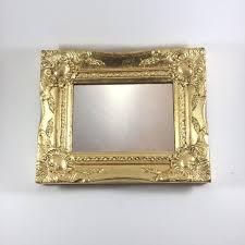 vintage style mirrorwood frame