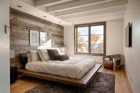 wood clad bedroom feature wall ideas