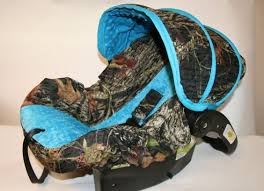 baby car seat cover baby blue camo
