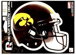 Amazon Com Rico Iowa Hawkeyes Football Die Cut 6 Helmet Window Decal Kitchen Dining