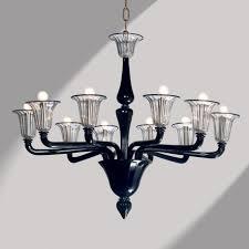 coco black murano glass chandelier