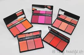 sleek blush by 3 palettes with swatches