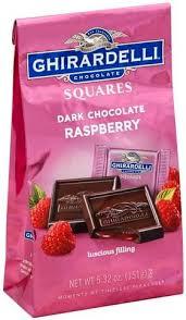 ghirardelli raspberry squares dark