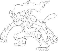 Pokemon Infernape Dibujo Para Colorear Colorear Pokemon Dibujos
