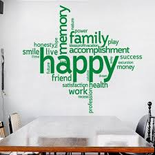 Uniqute Special Large Happy Word Wall Stickers Custom Quotes Vinyl Wall Decals Living Room Home Decor Steampunk Wall Art Bedroom Thefuns On Artfire