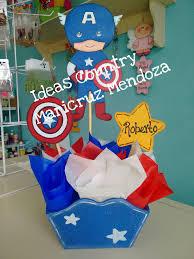 Centro De Mesa Capitan America Avengers Dulceros Para Fiestas