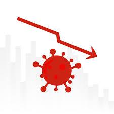 Chart with Down Arrow Over Coronavirus - Download Free Vectors ...
