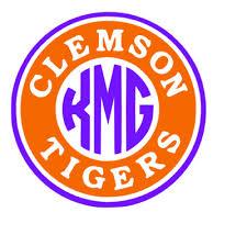 Clemson Tigers Monogram Decal For Yeti Clemson Sticker For Car Clemson Decal Ebay