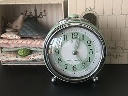 Pottery Barn Kids Vintage Style Alarm Clock Kids Room Decor Pastel Green Ebay