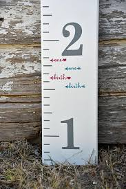 Height Marker For Growth Chart Ruler Vinyl Decal Arrow In Script Measuring Mark Growth Chart Ruler Wooden Growth Chart Height Chart Diy