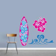 Shop Girl S Surfing Vinyl Wall Decal Set Overstock 11897076