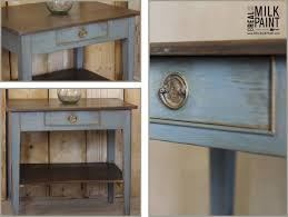 a rustic paint look with milk paint