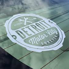 Amazon Com Detroit Motor City Forever Window Sticker 6 White Decal For Any Detroiter To Show Off Your Detroit Pride And Detroit Roots 6 White Automotive