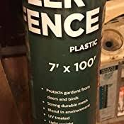 Amazon Com Allfenz 7 100 Polypropylene Deer Fence Black Garden Outdoor