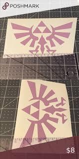 4 15 Zelda Triforce Vinyl Decal Custom Handmade Premium Indoor Outdoor Vinyl Decal Lasts Up To Three Years The Legend Of Z In 2020 Vinyl Decals Triforce Handmade