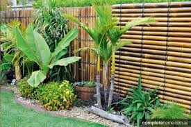 Design Feature Black Bamboo Screening Panels Completehome