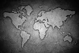 Black And White Stone Texture World Map Self Adhesive Vinyl Wallpaper Peel Stick Fabric Wall Decal Picture Sensations