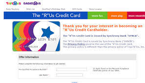 toys r us credit card payment late fee