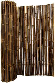 Amazon Com Natural Rolled Black Bamboo Fencing 1 D X 3 H X 8 L Garden Outdoor