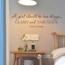 A Girl Should Be Two Thing Classy Fabulous Quote Decal Wall Etsy