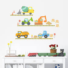 Construction Wall Decals Construction Site Wall Stickers