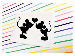 Minnie And Mickey Sticker Minnie Mickey Kissing Decal Etsy