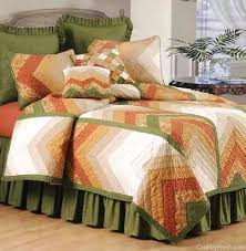 chevron nature quilt bedding by c f