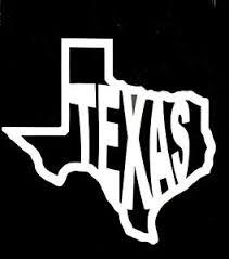 State Of Texas Vinyl Decal Sticker Car Window Laptop 75358 Ebay