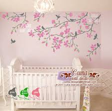 Pink Cherry Blossom Wall Decals Nursery By Cuma Wall Decals On Zibbet