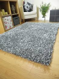 silver grey rug spaghetti plain