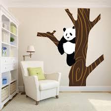 Panda Wall Sticker Animal Wall Decor Tree Removable Safari Wall Decal American Wall Designs