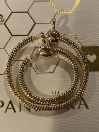 pandora pendant shine 18k gold plated