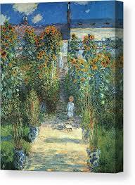 garden at vetheuil canvas print
