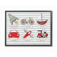 Transportation Icons And Noises Framed Giclee Texturized Art 11 X14 X1 5 Stupell Industries Target