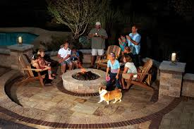 outdoor fire pit room in your backyard