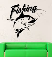 Wall Decal Fishing Fisherman Fish Hobbies Vinyl Stickers Art Mural Wall Decals Vinyl Stickerssticker Mural Aliexpress