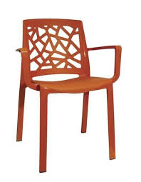 Grosfillex Reg Stuart Dining Patio Chair In Orange Menards 30 00 Patio Chairs Patio Dining Chair
