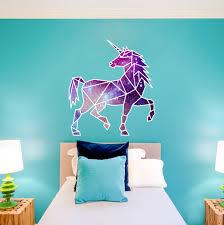 Geometric Unicorn Wall Art Sticker Unicorn Bedroom Sticker