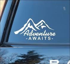 Adventure Awaits Nature Calls Mirror Motivation Vinyl Car Decal Car Decals Vinyl Car Stickers Car Decals Vinyl